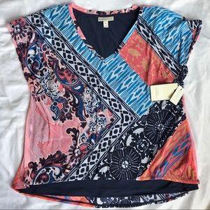 Dana Buchman Short Sleeve Swing Summer Tee NWT XL